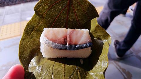 柿の葉寿司鯖