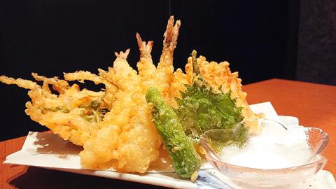 海老と野菜の天婦羅
