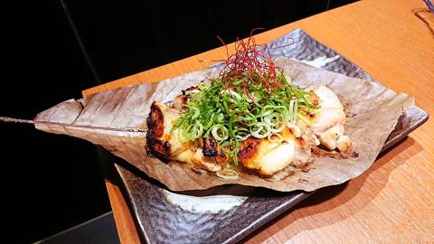 京赤地鶏の朴葉焼き