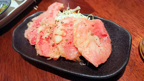 紅しょうがの天ぷら