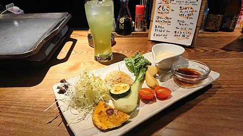 旬の焼野菜サラダ