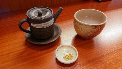 蕎麦湯と蕎麦の実