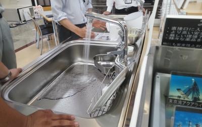 クリナップさんのシステムキッチンの特徴 流レールシンク