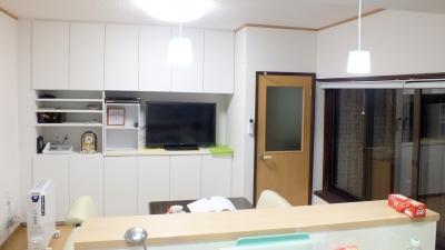 キッチンからの眺め☆壁面収納が!