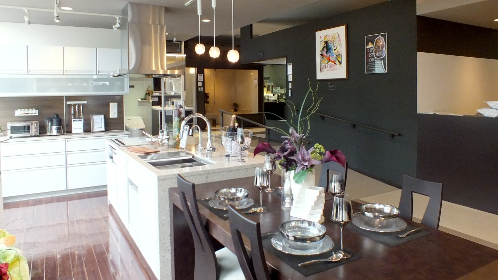 タカラショールームさんにはこんな素敵なキッチンが展示してあります!