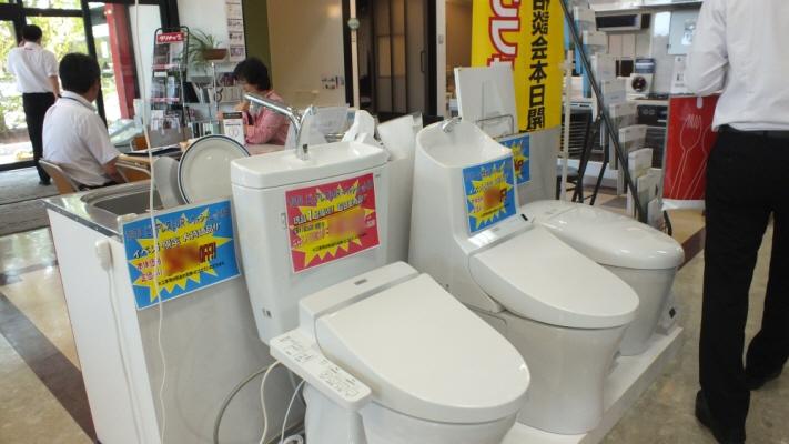 今回はトイレも特別展示いたしました