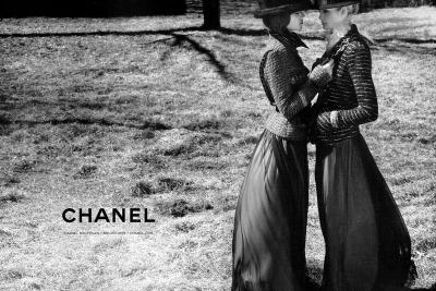 Freja Beha Erichsen & Heidi Mount are photographed by Karl Lagerfeld