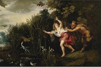 Jan Brueghel the Elder,Peter Paul Rubens - LANDSCAPE WITH PAN AND SYRINX