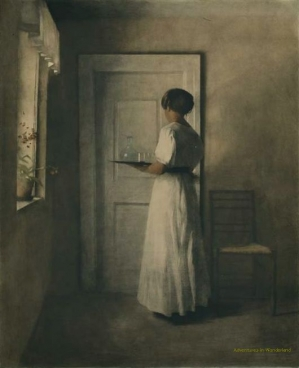 Peter Vilhelm Ilsted, Girl with a Tray