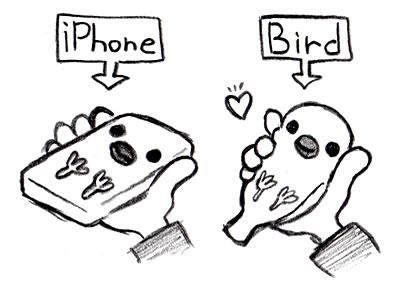 鳥のiPhoneケース