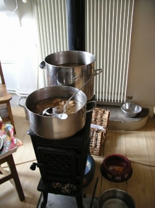 コトコト煮た豚肉