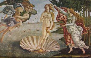 The Birth of Venus (La nascita di Venere) by Sandro Botticelli (Galleria degli Uffizi, Florence)