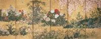 伊年印 四季草花図屏風 右隻 インディアナポリス美術館