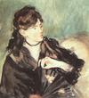 Manet, Berthe Morisot de trois-quarts, 1874
