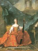 ヴィオールを弾く王女アンリエットの肖像/ジャン・マルク・ナティエ Jean-marc Nattier (1685 - 1766)