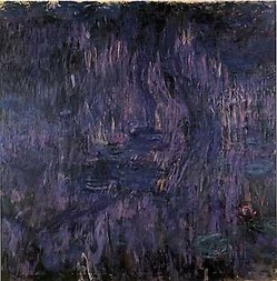 Water Lilies, Reflections of Weeping Willows 1916-1919