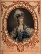 Jean-François Janinet (1752-1814) マリー・アントワネット(1777)21歳のアントワネット
