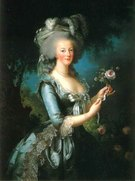Marie Antoinette (1755-93) with a Rose, (1783) 28歳のアントワネット