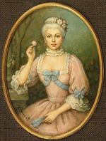 Miniatura portretowa Madame de Pompadour by Jadwiga KISSEL-BARNAT