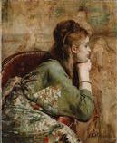 「Meditation」 1872年 Museum of Fine Arts, Boston 所蔵 着物姿の女性、手にはブレスレット