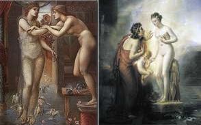 Galatea and Pygmalion 右:Edward Burne-Jones 左:Anne-Louis Girodet de Roussy-Trioson