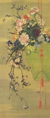 司馬江漢 「生花図」 江戸時代後期 府中市美術館蔵