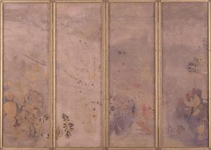 1989年3月のアサヒグラフ別冊ルドンの裏表紙から画像引用「Four panel Screen」とありました。当時の「ウイルデンスタイン東京」の広告です。