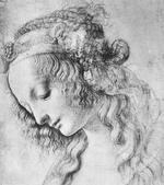 レオナルド・ダ・ヴィンチ 「女性の頭部」絶世の美女 シモネッタ・ヴェスプッチらしいです。一説にはマグダラのマリアとも。