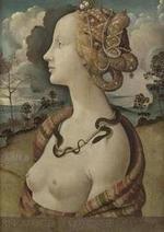 Piero di Lorenzo , Piero di Cosimo (dit) - Portrait de femme dit de Simonetta Vespucci