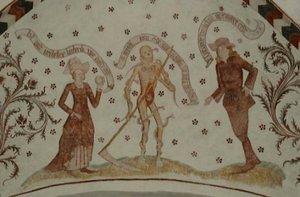 Loxstedt, St. Marien: Wandmalerei, um 1450