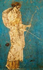 ディアナの狩猟 La caccia di Diana フラスコ画 作者不詳ですが、障壁画「 アフロディテ・アナデュオメネ」のアペレスではないかと・・・。