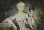 Madame de Pompadour in a French miniature, 1740