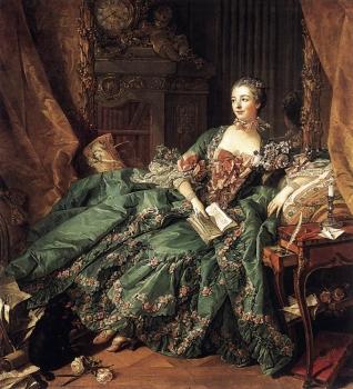1756年「Portrait de Madame de Pompadour」 François Boucher (1703(1703)?1770(1770)) ブーシェの描いたマダム・ド・ポンパドゥール
