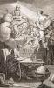 wikiより引用「プリンキピア・マテマティカ仏語訳の扉絵。彼女はヴォルテールの女神として描かれており、ニュートンの発する天界の閃きを反射してヴォルテールに投げかけている。」