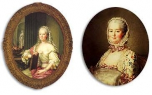 François Hubert Drouais 右:Madame de Pompadour  左:Madame Pompadour as a vestal