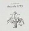 HOUBIGANT 1934年カタログの表紙から「花々の籠」のイラスト