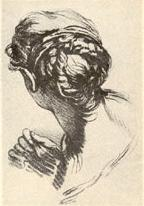 A head of a woman