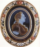A cameo made of sardonyx , Jaqcques Guay (1753) Paris, The National Library of France