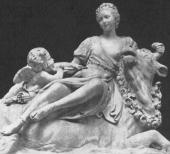 Jean Pierre Antoine Tassaert 「Mme de Pompadour as Europe 」(1761-1762 ) ジャン=ピエール・フランク 「欧州のマダム・ド・ポンパドゥール」