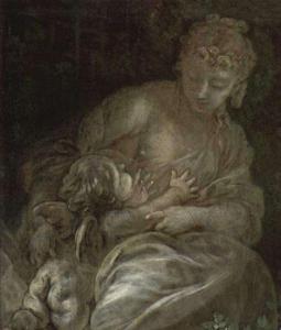 ブーシェのマダム・ポンパドゥールに描かれているジャン=バティスト・ピガール