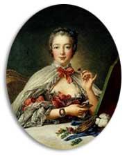 Francois Boucher Madame de Pompadour 1758年 「化粧の間のポンパルドール夫人」