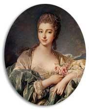 Francois Boucher Madame de Pompadour  1749−50年