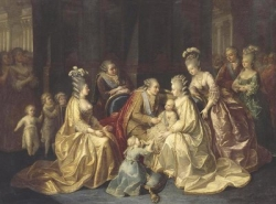 The Royal family in 1781 at the birth of the Dauphin Louis-Joseph