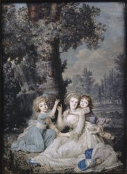 Marie-Antoinette and her children in the gardens of Trianon