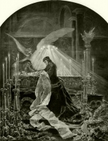 Erzsébet királyné Deák Ferenc ravatalánál