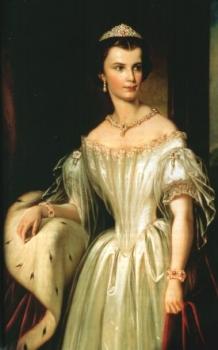 Retrato oficial de Elisabeth Sissí, Emperatriz de Austria y Reina de Hungría (1837-1898)