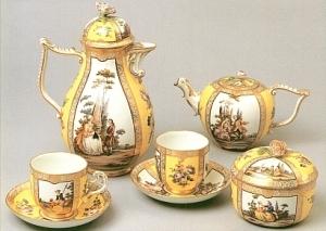 Kaffeeservice zur Rokokozeit um 1750
