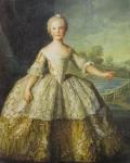 Isabelle de Parme, Infante (1741-1763) 1749 by Jean-Marc Nattier Musée national des Châteaux de Versailles et de Trianon  ヴェルサイユ宮殿美術館/トリアノン
