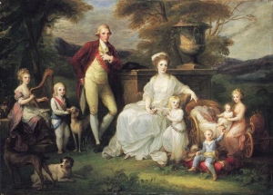 Maria Carolina and ferdinand with their Children
