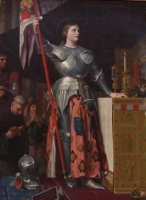 Jean Auguste Dominique Ingres: Jeanne d'Arc au sacre du roi Charles VII, dans la cathedrale de Reims, 1851